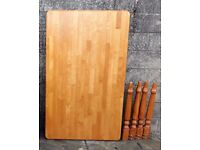 Farmhouse style dining table - 5ft long seats 6 people - solid Beech wood,
