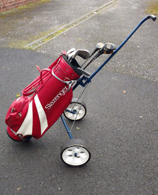 Golf Clubs (Dunlop) plus Bag and Trolley
