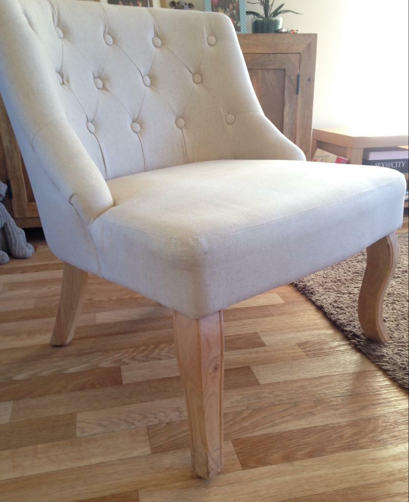 new product b631b 1cdaa Dunelm mill Antoinette cream arm chair £50 | in Montrose, Angus | Gumtree