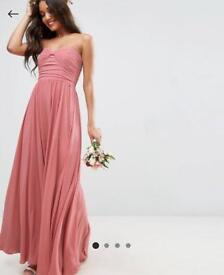 Nude Strapless ASOS Dress (Size 8)