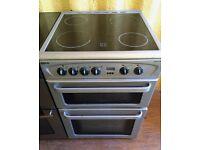 Beko Silver 60cm double electric cooker