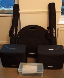 Bose L1 Model 1 PA System with 2xB1 Bass Modules complete with remote, covers and leads
