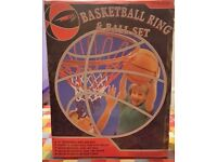 "Inco Sports Basketball Net/Ring (18""Ring) & Ball Set Boxed NEW"