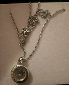 Pandora locket necklace and charms