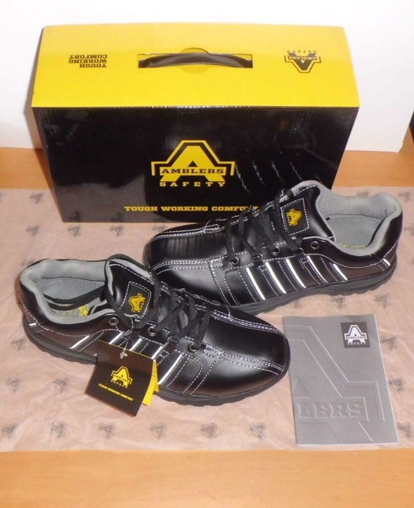 Safety Trainers Work Boots Shoes Amblers Sf50 Black S1p Hro