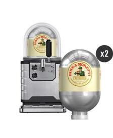 Blade beer machine with moretti kegs