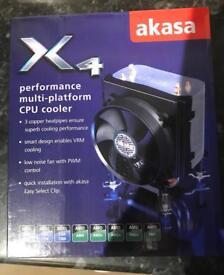 AKASA X4 PERFORMANCE MULTI~PLATFORM CPU COOLER