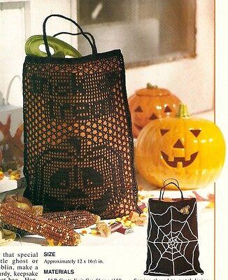 Halloween Trick Or Treat Bag Patterns (HALLOWEEN Trick or Treat Bag/Decor/Crochet Pattern INSTRUCTIONS)
