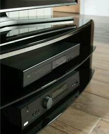 Alphason glass tv cabinet