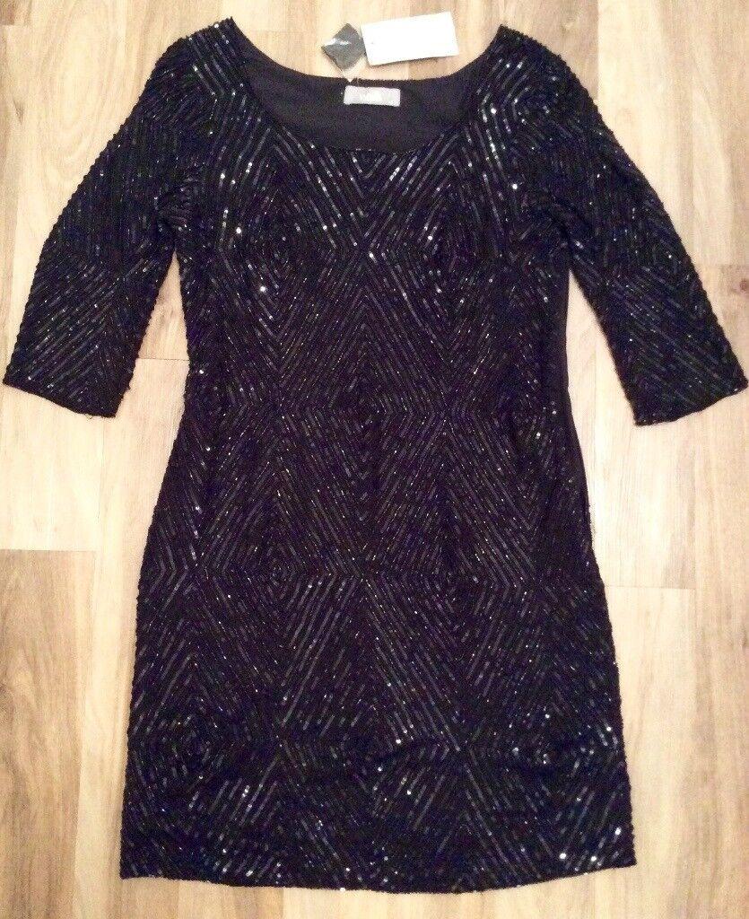 Wallis Black Beaded Dress