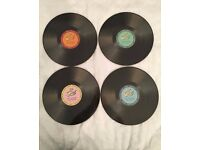 World Of Flavours Stateside Retro Record Placemats & Coasters