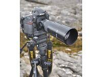 Nikon Prime 400mm f5.6 MF sigma lens