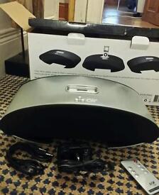 Ipod speaker - brushed aluminium - new and unused