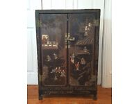 Antique Chinese 19th Century Cabinet Hand Carved