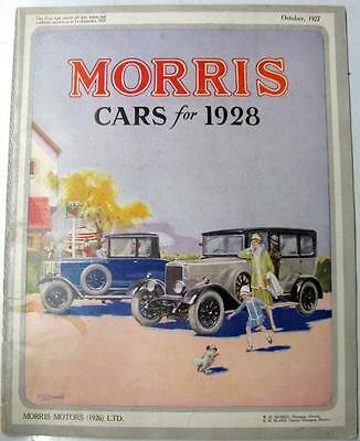 MORRIS for 1928 Range Original Car Sales Brochures 1927 #2363/9/27/50m