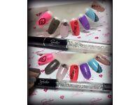 nails, lashes, make-up, face