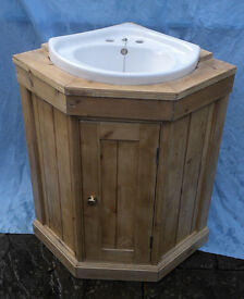 Pine corner wash stand.