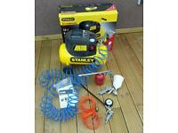 Stanley 24L compressor with 6 pieces accessory kit 240V