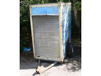 Cheap covered Trailer for sale. Two-wheeled, non-braked.