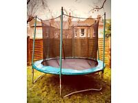 10ft Skyhigh Trampoline and Safety Enclosure, Good condition, Hardly used.