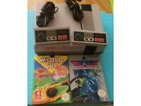 Nintendo NES Console 2 Controllers and 2 games