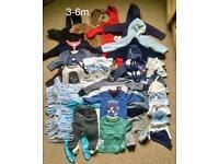 Boy's clothes bundle size 3-6m. 38 items+ 58 clothes hangers