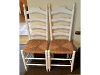 2 x Shabby Chic wooden chairs