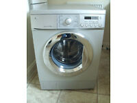 Silver LG Direct Drive Washing Machine. 3 months guarantee