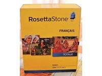 Rosetta Stone French Language CDs - Levels 1 to 5 c/w microphone