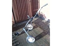 Golf Trolley, bag, clubs and balls