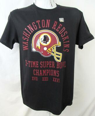 Washington Redskins Mens M - 2XL Screened 3 Time Super Bowl Champs Tee ARDK 213