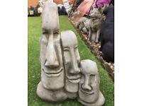 Easter island heads stone garden ornaments