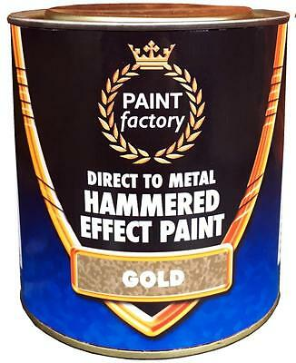 Farbe Zinn (Gold gehämmerte Farbe 650ml Zinn Direct to Metall Innenraum außen PAINT FACTORY)