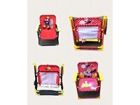 Cartoon chairs for kids! Fireman Sam and Minnie Mouse!