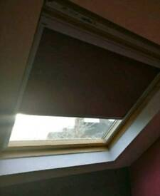Red Velux Blackout Blind