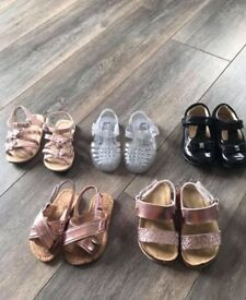 Toddler girls sandals and shoes sizes 4.5 and 5