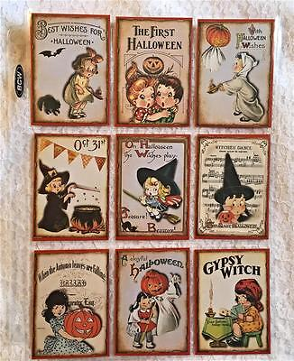 Halloween Kids~9 Pocket Pen Pal~Cards only~No - Kids Halloween Cards