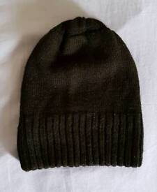 Black Toque/ Knitted Winter Cap