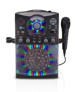 Singing Machine SML385BTBK Top Loading CDG Karaoke System with Bluetooth, Sound and Disco Light Show
