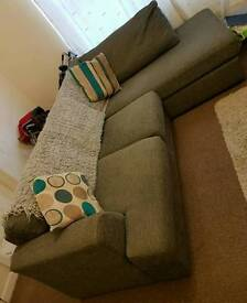 Large right hand corner sofa & arm chair