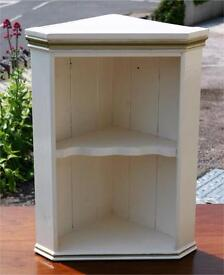 Small Painted Pine Corner Cabinet