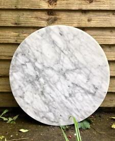 Round Marble table top reclaimed