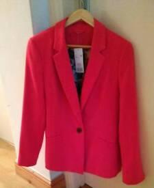 New Ladies pink jacket size 10