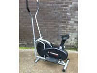 2 in 1 Cross Trainer / Exercise Bike FREE DELIVERY Vibro Plate Cycling Rower Machine Weight Loss Gym