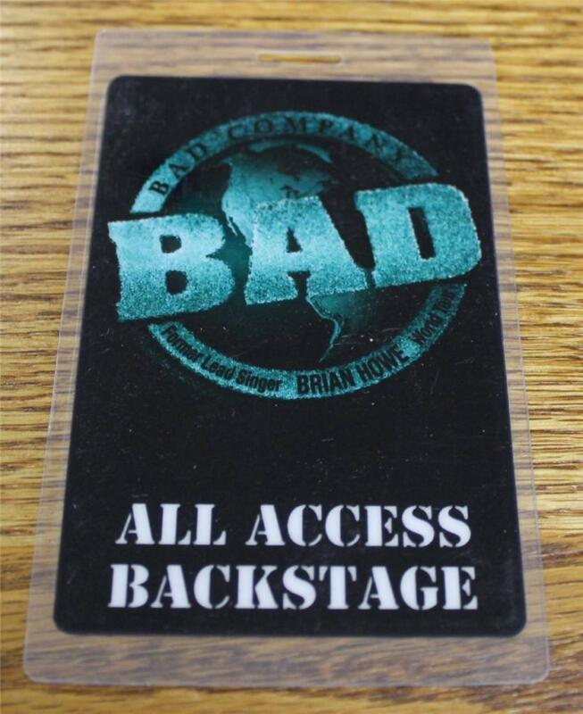 Vintage & Genuine Bad Company 1998/99 World Tour PERRi Laminated Backstage Pass