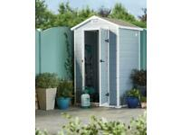 Keter manor garden shed 4ft x 3ft lockable brand new ✅