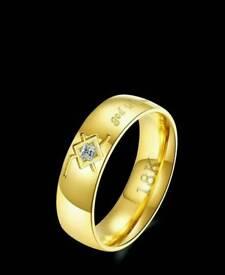 18k gold wedding band ring