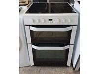 6 MONTHS WARRANTY AA energy rated Belling 60cm, double oven electric cooker FREE DELIVERY