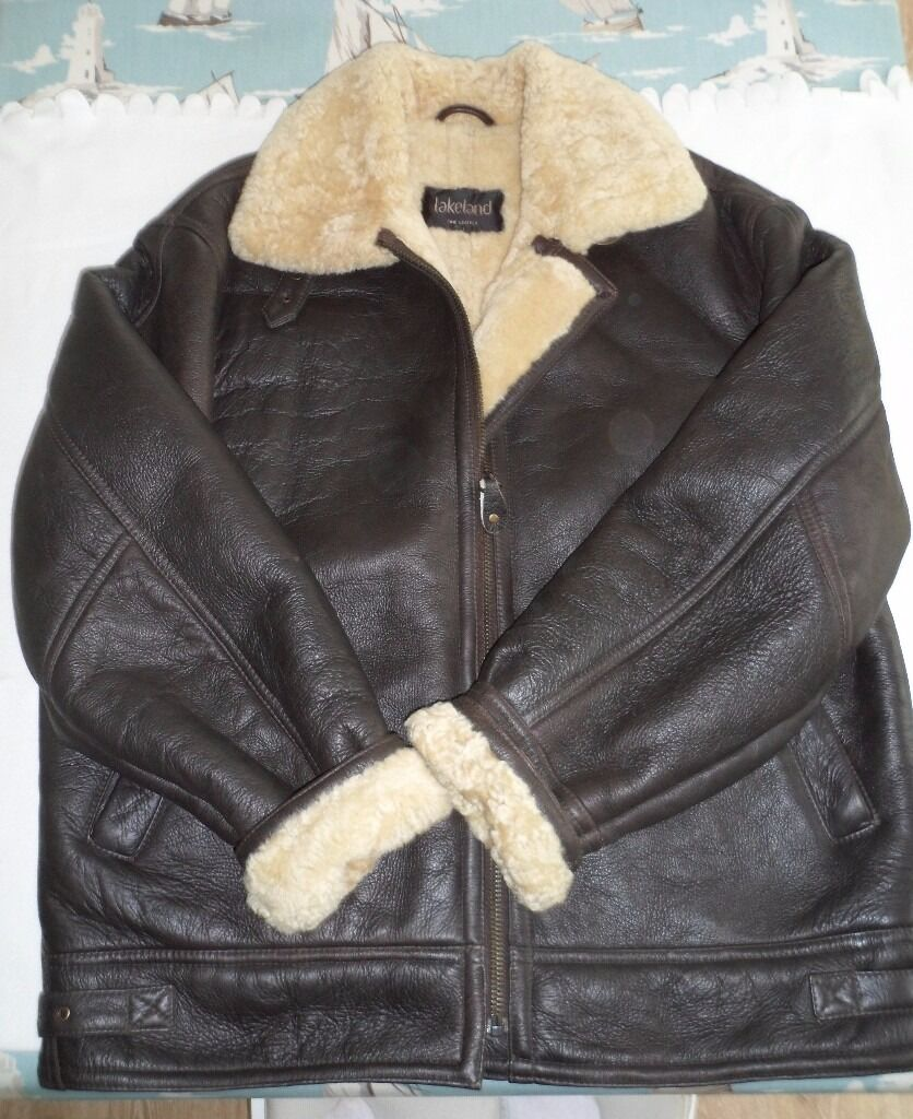 Sheepskin Leather Aviator Jacket Lakeland Excellent condition ...