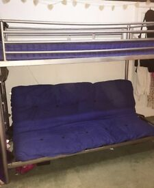 Excellent bunk bed (Single top, Double/collapsable sofa bottom)